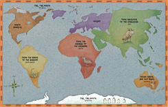 Map from Around the World on Eighty Legs by Amy Gibson