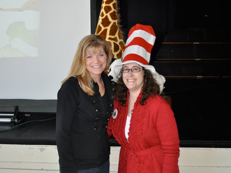 Amy Gibson on an author visit